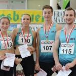 Die Medaillengewinner Julia, Alex, Philipp und Stani