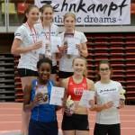 Siegreiches Mädchenteam mit Hannah, Viki und Greta (U18)